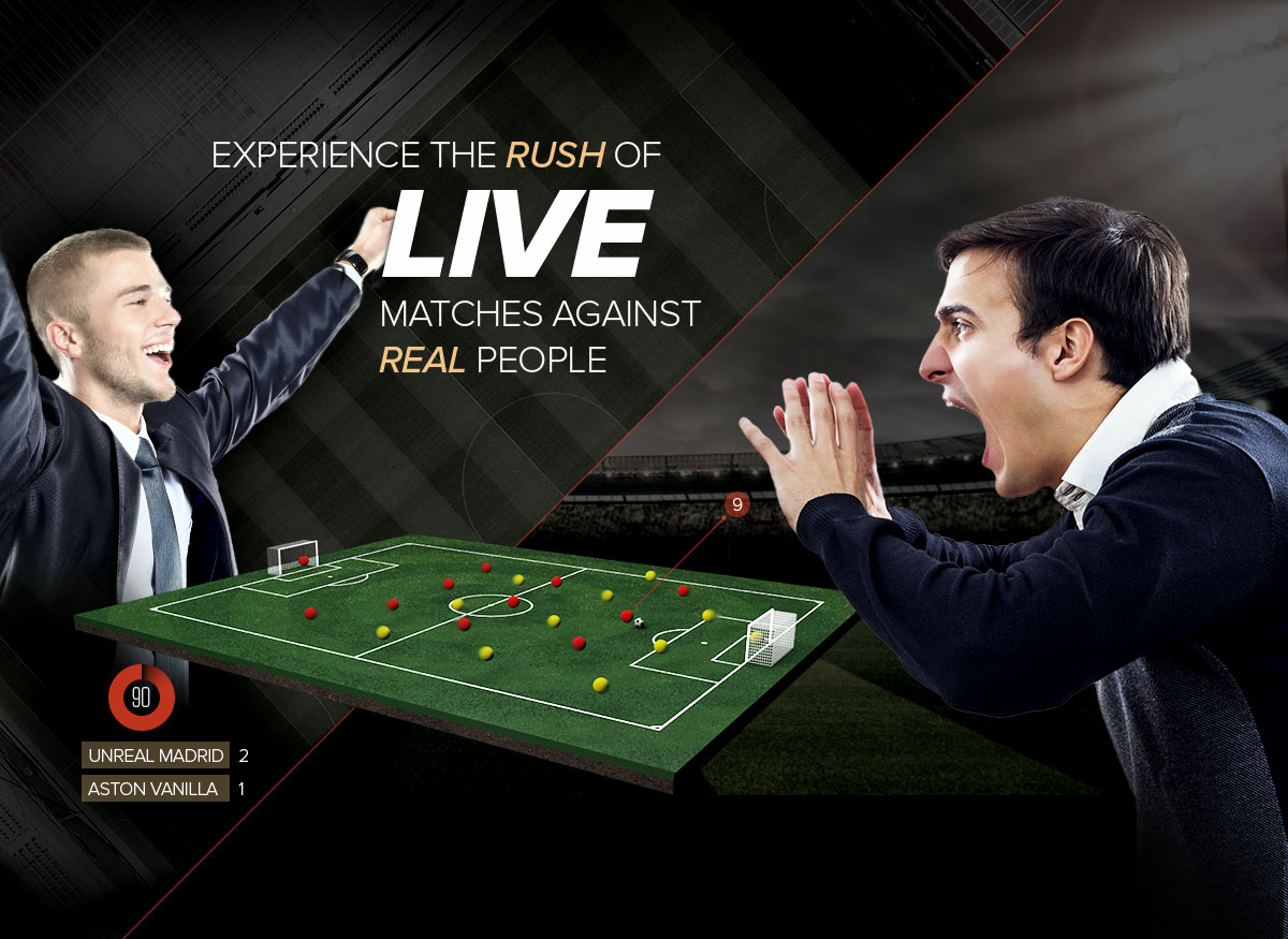 Experience the rush of live matches against real people